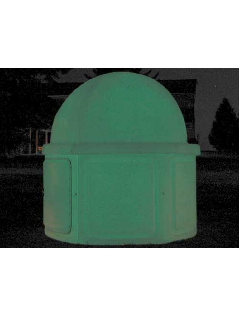 Add glow-in-the-dark Ultra Glow color to the walls of your basic POD observatory