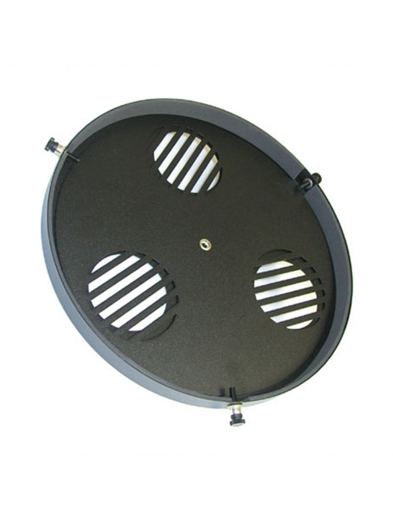 "Focusing cap w/ built-in Bahtinov focusing mask for 12"" Schmidt-Cassegrains and similar scopes"