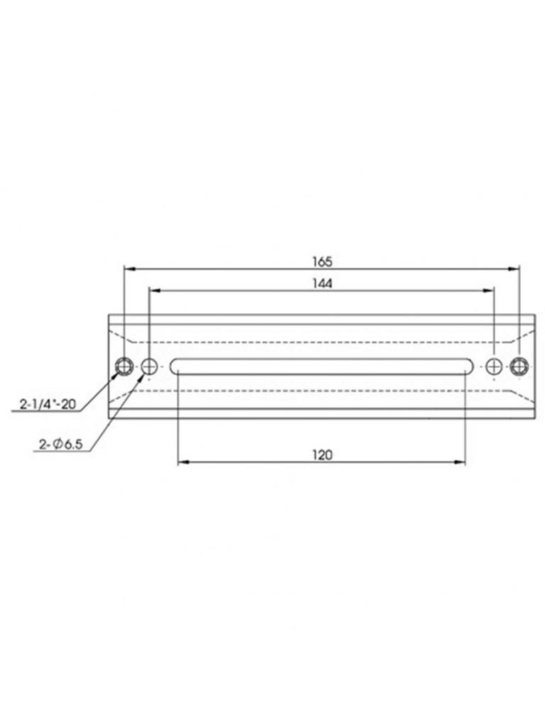 "7"" Short universal dovetail plate for Vixen-style mounts, black"