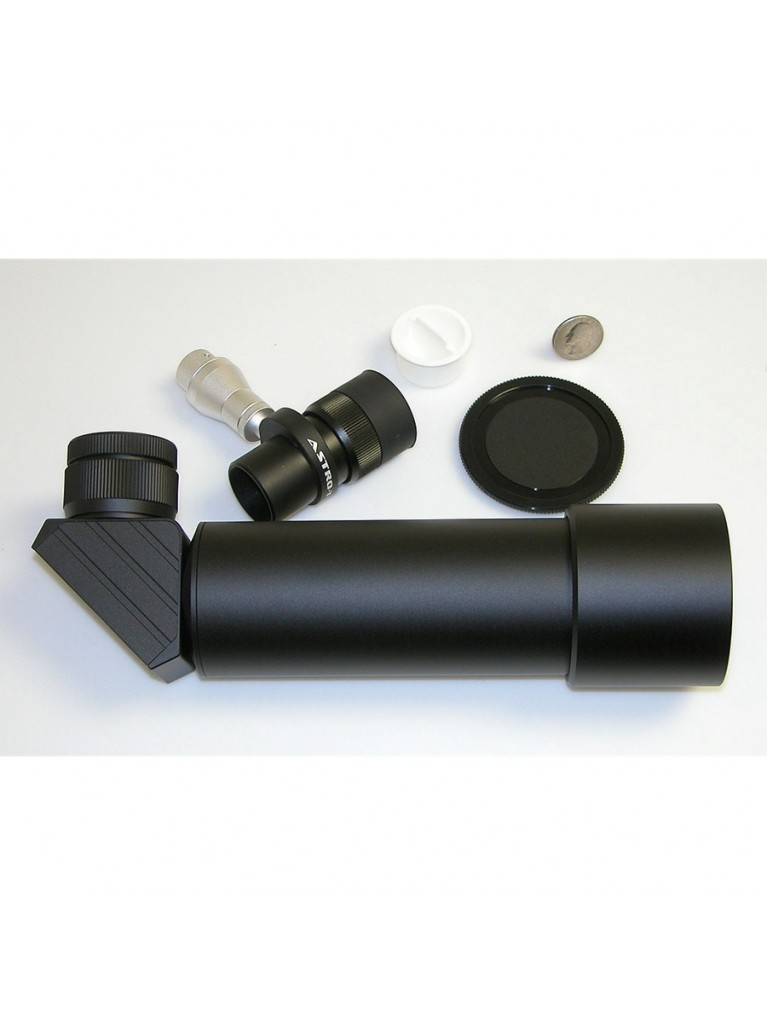 10X50mm illuminated right angle correct image finder, all black finish