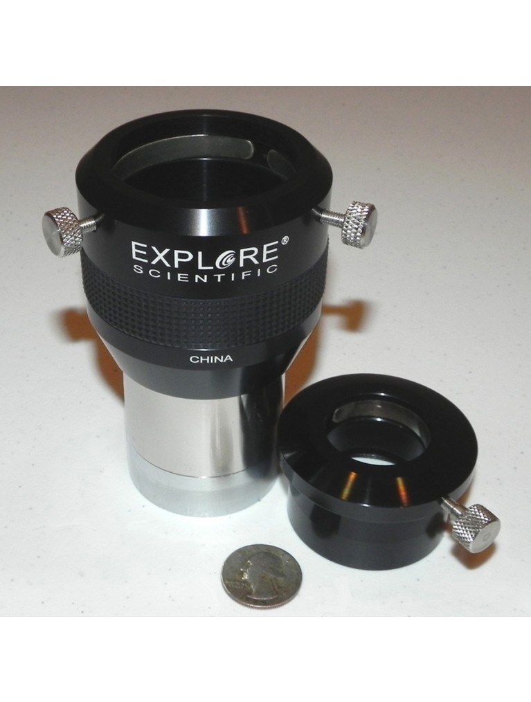 "2X Barlow for 2"" eyepieces, with 1.25"" adapter"