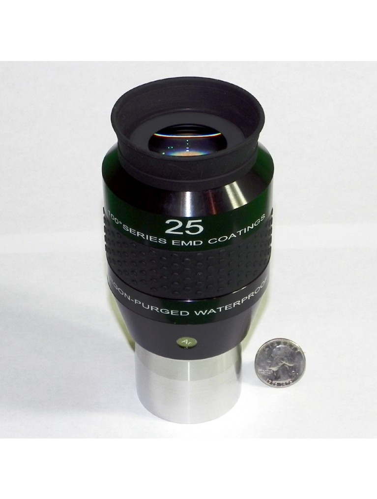 "25mm 100° field argon-purged waterproof 2"" eyepiece"
