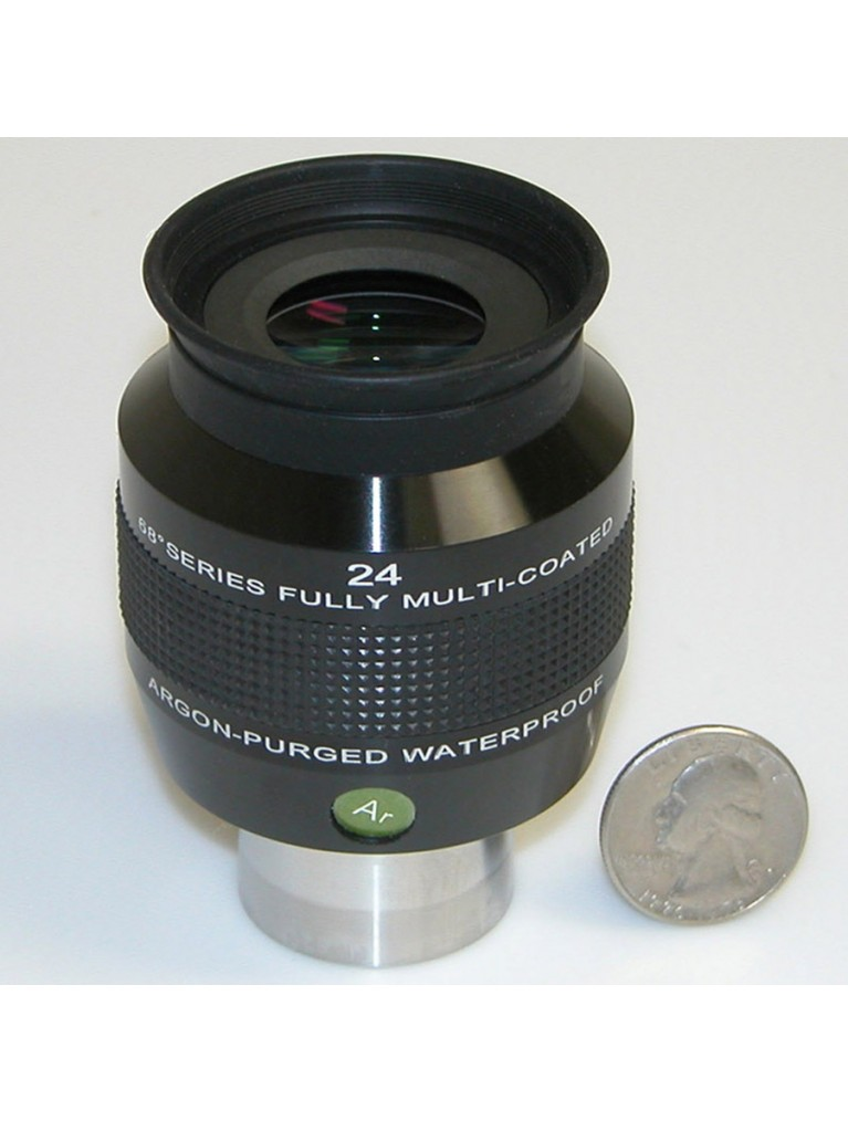 "24mm 68° field argon-purged waterproof 1.25"" eyepiece"