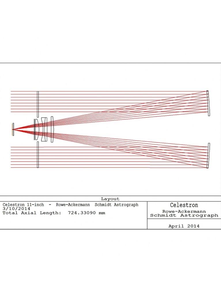 "11"" f/2.2 Rowe-Ackermann Schmidt Astrograph (RASA) optical tube"