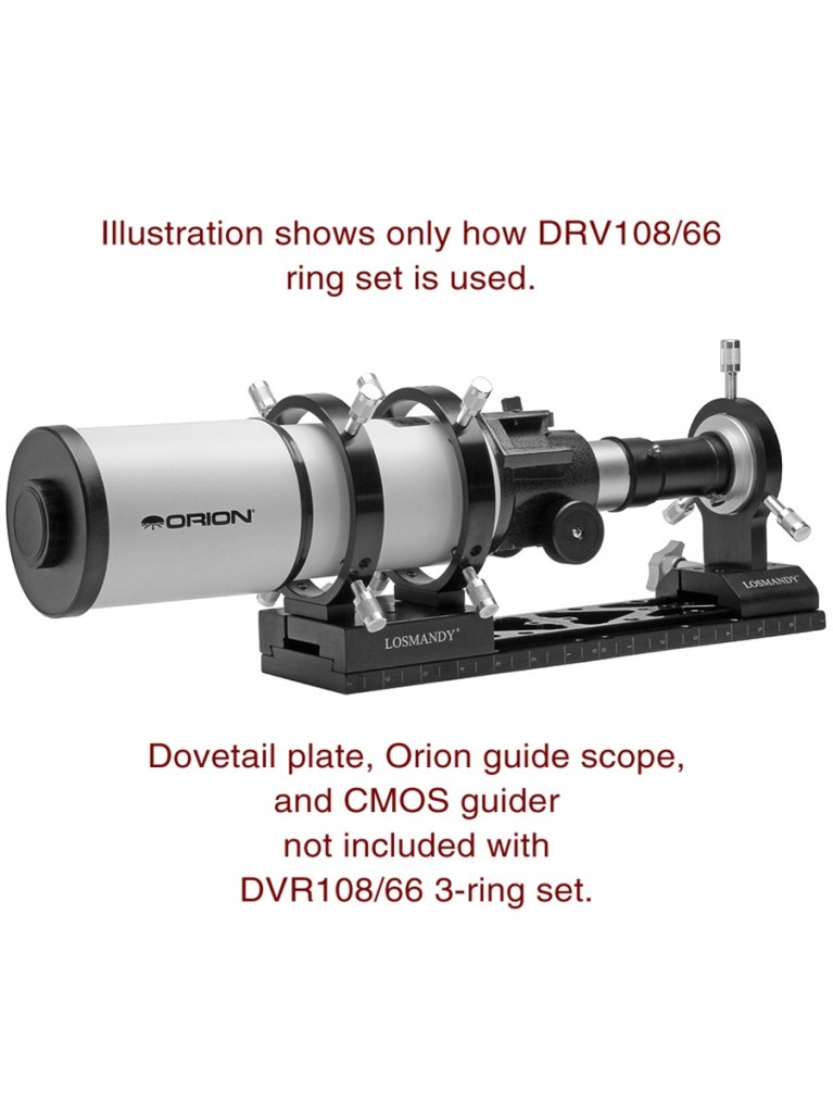 108mm photoguide/camera 3-ring set for Losmandy and Vixen dovetails