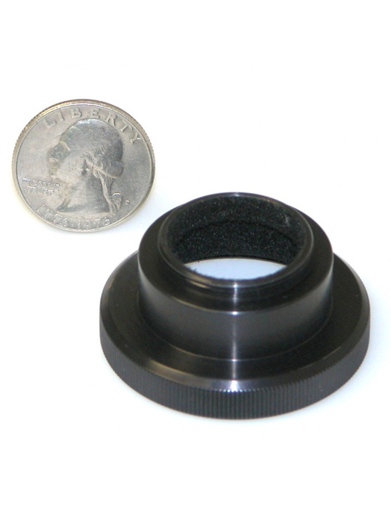 "Questar T-Ring to use 1""-32 thread C-mount video and 16mm film cameras on Questar telescopes"