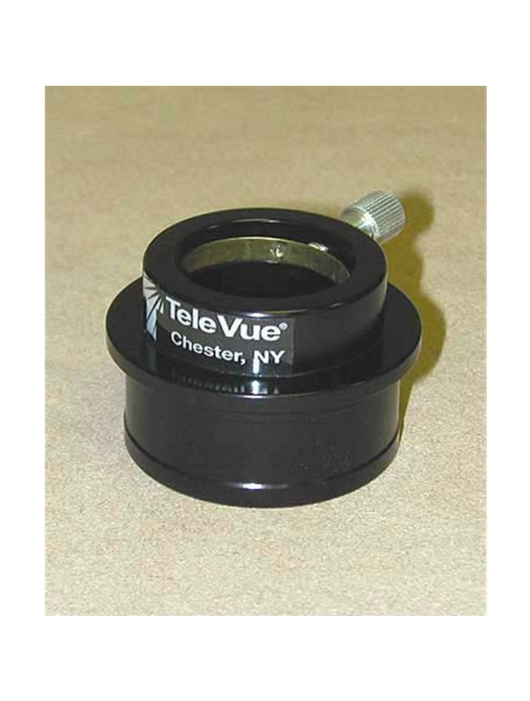 """High hat adapter to use 1.25"""" eyepieces in 2"""" focusers, gloss black finish"""
