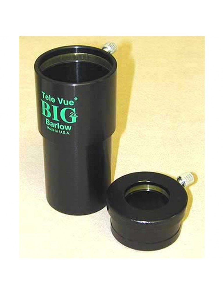 "2X Big Barlow for 2"" eyepieces, with 1.25"" eyepiece adapter"