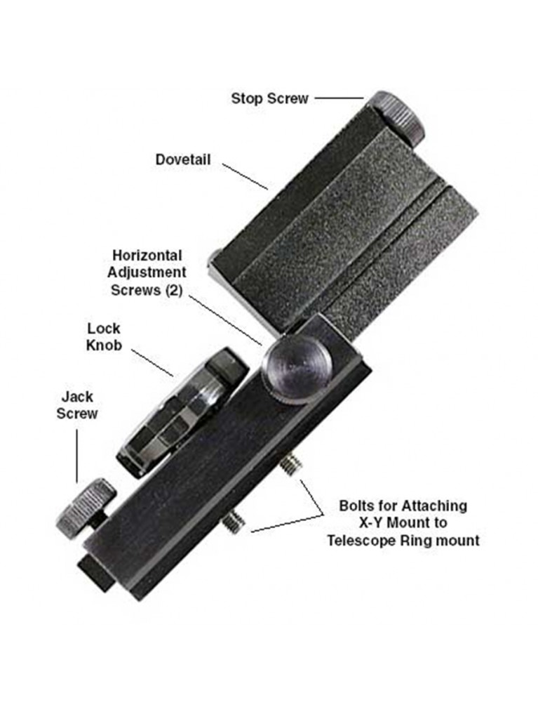 X-Y Mount to attach TV-60 to TeleVue ring mounts