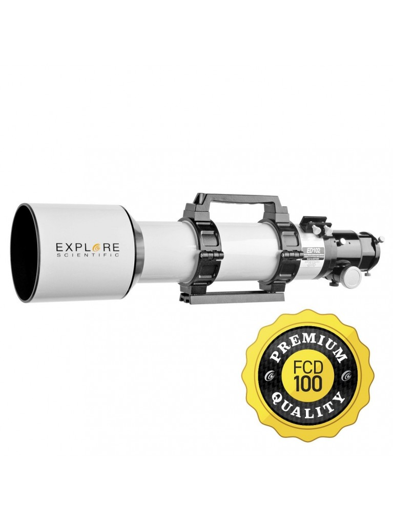 Explore Scientific 102mm f/7 Classic White FCD100 ED Triplet Refractor