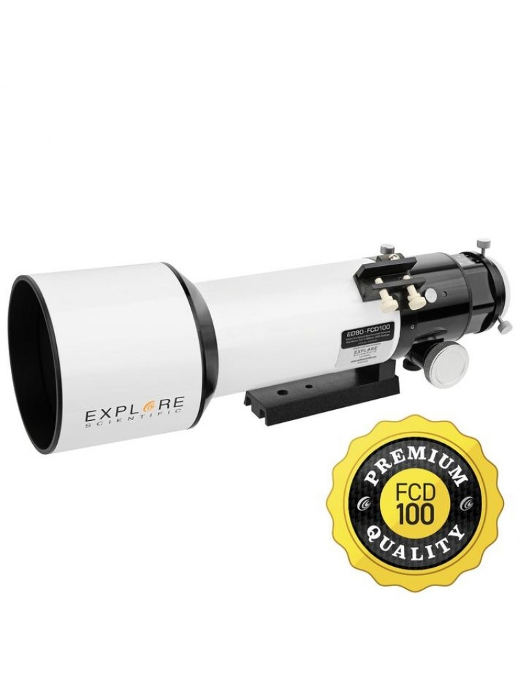 Explore Scientific 80mm f/6 ED Classic White Tube FCD100 Series APO Triplet Refractor