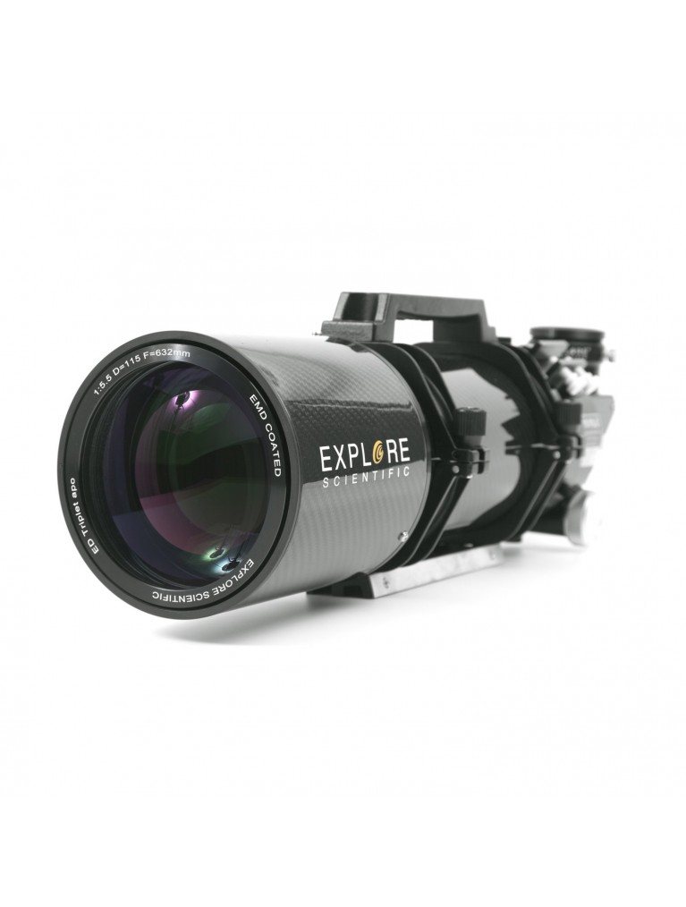 "Explore Scientific115mm f/5.5 FPL-53 Carbon Fiber APO Triplet Refractor With 3"" Hexagonal Focuser"