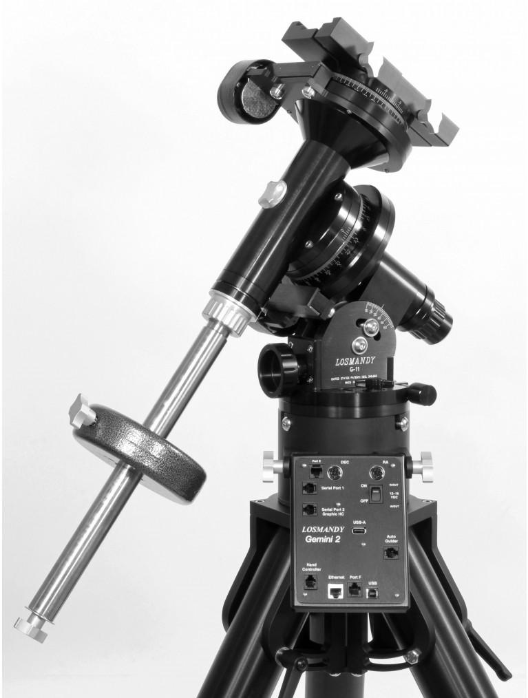 G-11 Equatorial Mount With Gemini II Go-to System, folding HD tripod