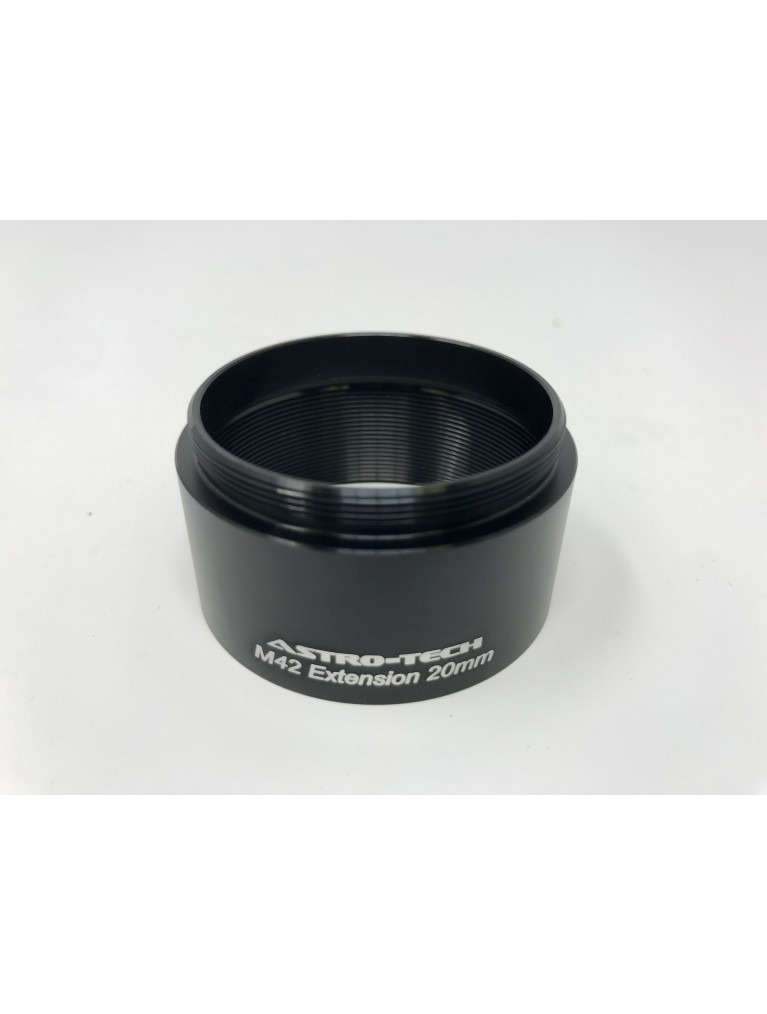 Astro-Tech 20mm T-thread spacer ring for DSLR and CCD imaging with 42mm Threads
