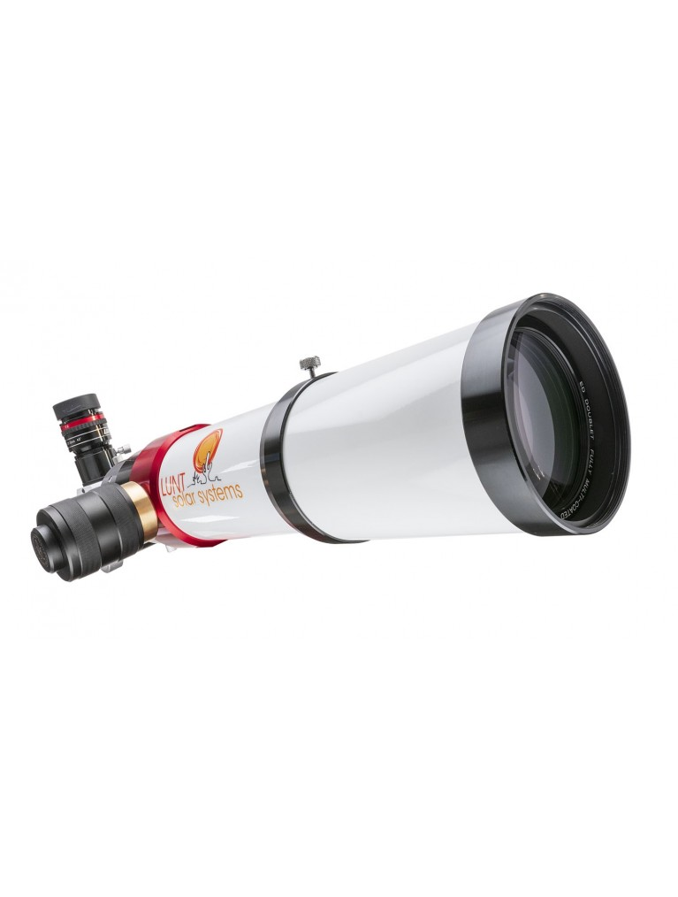 Lunt 80mm Hydrogen Alpha Solar Telescope with Pressure-Tune and B1200 Blocking Filter with Feathertouch Focuser