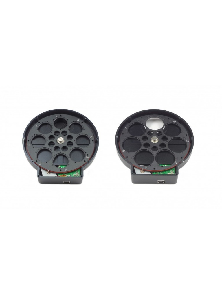 """ZWO EFW 8-position Filter Wheel for 1.25"""" and 31 mm Filters"""