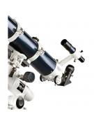 Close-up of focuser, finderscope, tube rings, etc.