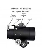 Image showing where the digital indicator kit components mount on top of the focuser.