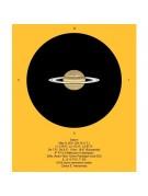 Sketch of Saturn by Carlos Hernandez as seen through a 12mm Astro-Tech Paradigm eyepiece.