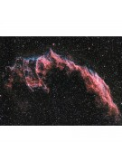 David Rosenthal AT8IN image of NGC 6992, the Eastern Veil Nebula, using H-alpha and RGB filters.