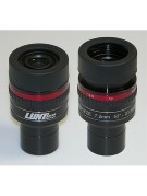 Image showing the Lunt zoom eyepiece with the rubber eyecup both retracted for eyeglass use and fully extended.