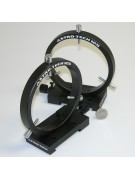 """125mm finder/photoguide ring set for use on Losmandy-style """"D-plate"""" dovetail, black"""