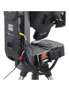 Image showing where and how the LCD video monitor mounts on an LS-series telescope.