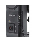 Image showing the light switch in the fork arm that turns the ETX-LS LightSwitch technology scope off and on.