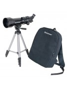 Larger image of the Celestron Travel Scope 70, also showing its backpack carrying case.