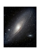 Mike Scroger's AT6IN image of M31 and its companions M32 and M110.