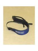 Wide neoprene binocular neck strap, in blue