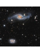 A portion of an Astro-Tech AT16RCT image of NGC 3718 and 3729, taken by Steve Cooper.