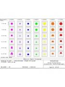 "Graph of the spot matrix of the 11"" Celestron RASA optical tube."