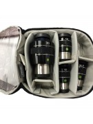 Image of the Explore Scientific 82 eyepiece Kit showing how the eyepieces fit in the case.