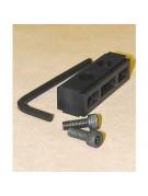 Finderscope adapter block to put Losmandy quick release bracket on TeleVue scopes