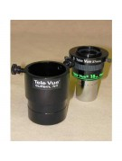 """Image showing 1.25"""" Radian eyepiece with typical ring adapter attached, before installing into 2"""" tube adapter."""