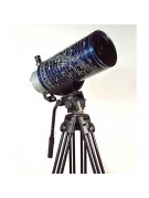 Questar Seven Classic Titanium shown on optional photographic tripod.